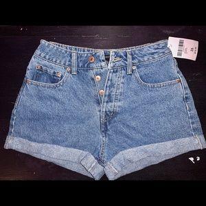 NEVER WORN: Forever 21 curvy denim shorts